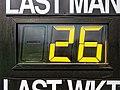 Bishop's Stortford Cicket Club scoreboard detail, Hertfordshire 1.jpg