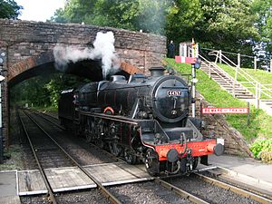 LMS Stanier Class 5 4-6-0 - Image: Bishops Lydeard 44767