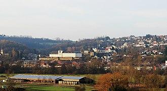 Blieskastel - View of Blieskastel center from Webenheim