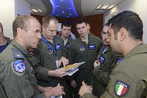 Blue Flag (Israeli Air Force exercise) - American, Italian and Israeli pilots at Blue Flag 2013
