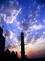 Blue sky at Tajmahal.JPG