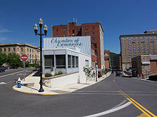 downtown Bluefield; Arts Center on left