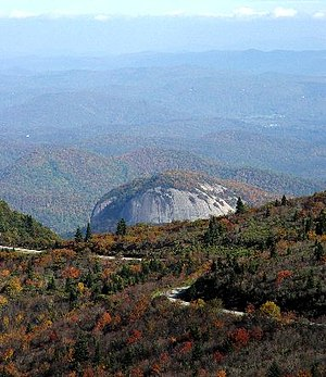 Blue Ridge Parkway, Virginia and North Carolina Blueridgeparkwaylookingglassrock.jpg