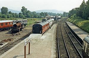 Strathspey Railway (preserved) - View southward, towards Aviemore in 1986