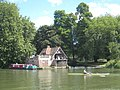 Boathouse on the Thames at Carmel College - geograph.org.uk - 950151.jpg