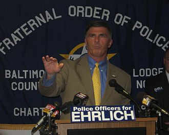 Bob Ehrlich - Ehrlich receiving the endorsement of the Fraternal Order of Police