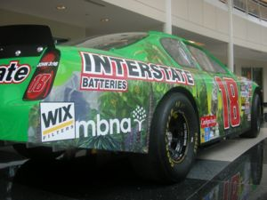 Bobby Labonte - Bobby Labonte's former JGR car on display at the Joe Gibbs Racing headquarters.