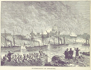 Battle of Suomenlinna - A British illustration of the attack