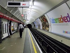 Bond Street tube station - Image: Bond Street stn Central line westbound