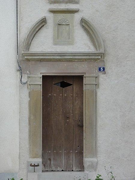 Borville (M-et-M) dessus de porte maison