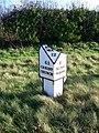 Broken milepost near Ringwood - geograph.org.uk - 1608574.jpg