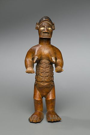 Bembe people - Female Figure (Bimbi), from the collection of the Brooklyn Museum