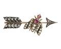 Brosch av guld med pärlor, rubiner och rosenstenar, 1800-tal - Hallwylska museet - 110260.tif