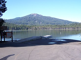 Little Butte Creek - Brown Mountain from Lake of the Woods, near the headwaters of the south fork