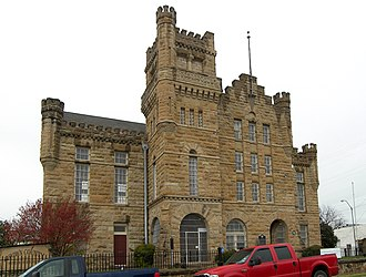 National Register of Historic Places listings in Brown County, Texas - Image: Brown county jail 2009