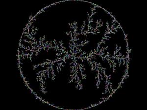 Brownian tree - A circular Brownian tree