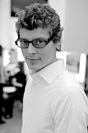 Bruno Pieters - Bruno Pieters, backstage in a Hugo Boss fashion show in Berlin in 2008