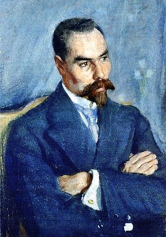 Валерий Брюсов. Портрет работы С.В.Малютина. 1913