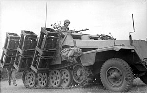 Wurfrahmen 40 - Wurfrahmen mounted on Sdkfz 251