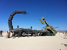Burning Man 2011 Victor Grigas Scorpion vs Mantis IMG 4701.JPG
