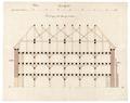 Byggnadsritning för ombyggnad av S-t Georg kyrka till tyghus och magasin, 1670-tal - Skoklosters slott - 98944.tif