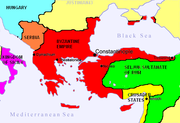Byzantine Empire and Crusader States after the First Crusade