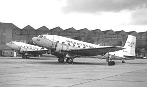 Douglas C-47 Skytrain - U.S. Navy C-117Ds at RAF Mildenhall in 1967
