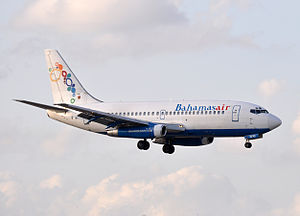 Bahamasair - A Bahamasair Boeing 737-200 shortly before retirement of the type in 2012