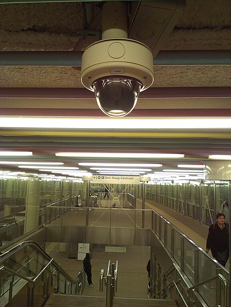 File:CCTV dome camera subway Rotterdam.jpg