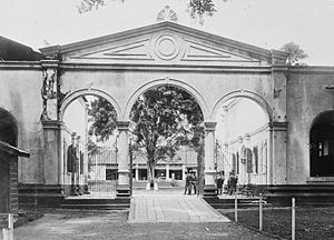 Palembang Sultanate - The main portal to Kuto Besak, the Kuto Lawang.