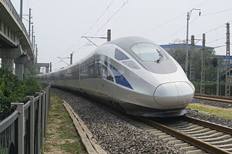China Standardized EMU - CRH-0207 testing in the National Railway Test Center, Beijing