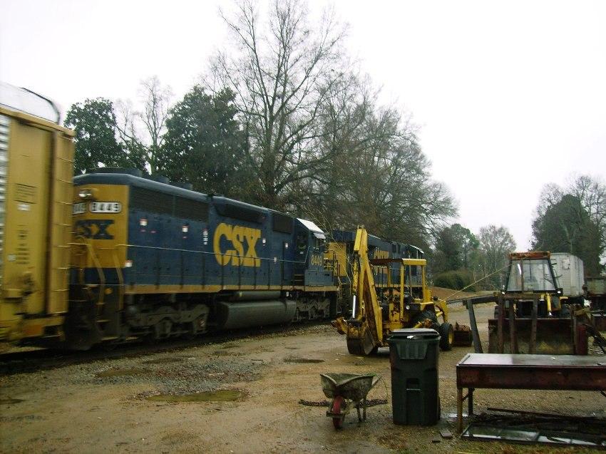 CSX SD40-2 8449 In Senatobia, Miss