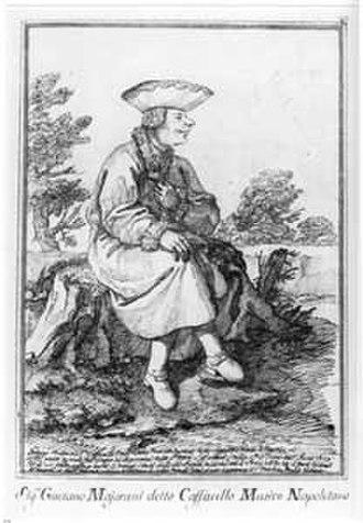 Caffarelli (castrato) - a caricature of Caffarelli by Pier Leone Ghezzi, c1740