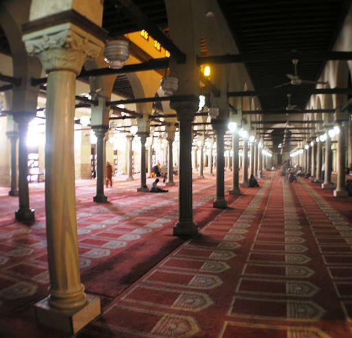 Cairo - Islamic district - Al-Azhar Mosque prayer hall