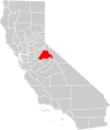 California county map (Tuolumne County highlighted).svg