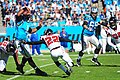 Cam Newton rushed by Asante Samuel 2013-11-03.jpg