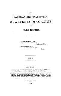 Cambrian Quarterly Magazine and Celtic Repertory