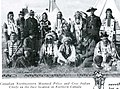 "Canadian Mounted Police and Cree Indians on location in Canada of the film ""The Last Frontier"" from Silver Sheet January 01 1923 - GALLOPING FISH (page 13 crop).jpg"
