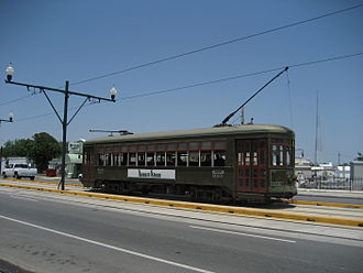 New Orleans Regional Transit Authority - Streetcar on Canal Street, April 2007