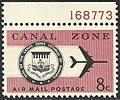 Canal Zone Air Mail, 8c, 1965 Issue.jpg