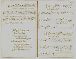 Music history of Portugal - Testou minha ventura, one of the 65 anonymous works compiled in the Cancioneiro de Elvas.
