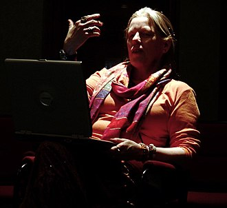Candas Jane Dorsey - Candas Jane Dorsey giving a lecture in Montreal in 2006