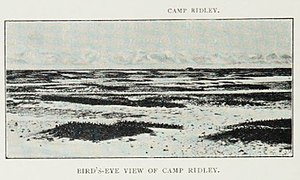Southern Cross Expedition - Bird's-eye view of Camp Ridley