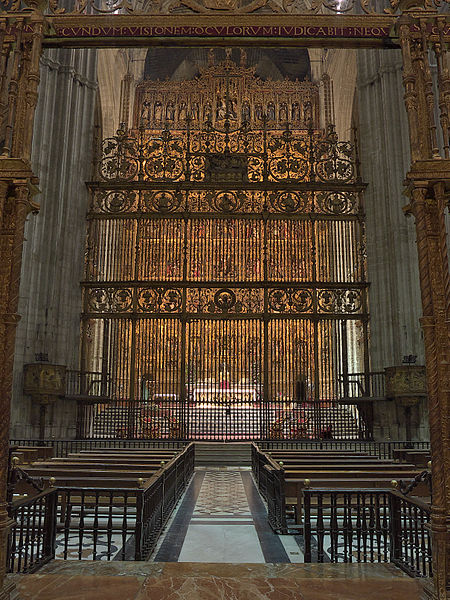 File:Capilla Mayor, Catedral de Sevilla. Reja.jpg