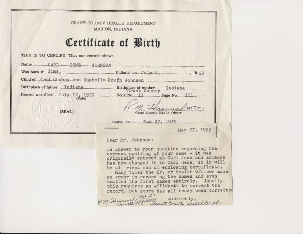 Filecarl Jean Johnson Birth Certificateg Wikimedia Commons