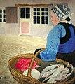 Carl Moser - Bretonische Bäuerin mit Fischen.jpg