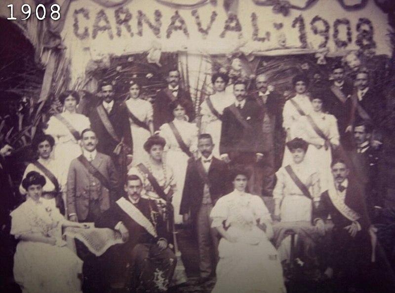 Comité organizador del carnaval de Barranquilla, 1908. Foto: autor anônimo/Wikimedia Commons