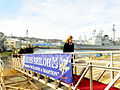 Caroline Kennedy, right, the U.S. ambassador to Japan, boards the guided missile cruiser USS Shiloh (CG 67) Dec. 17, 2013, during a tour of Fleet Activities Yokosuka, Japan 131217-N-GR655-025.jpg