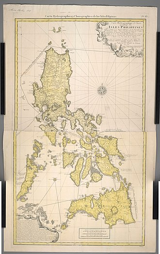 Carta Hydrographica y Chorographica de las Islas Filipinas - Image: Carte Hydrographique & Chorographique des Isles Philippines, par ordre de Sa Majesté