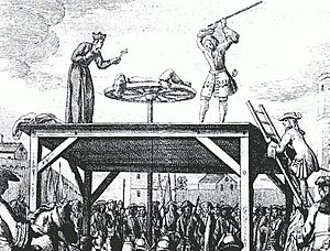 Highwayman - The execution of the French highwayman Cartouche, 1721